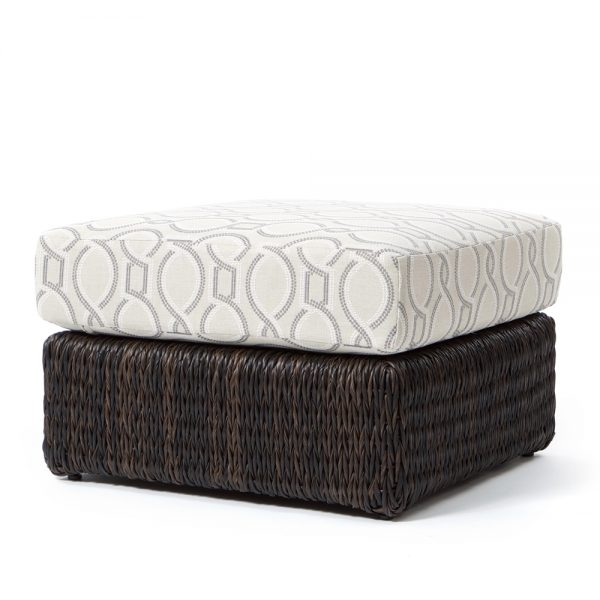 Orsay ottoman with Espresso weave and a Twist Smoke cushion