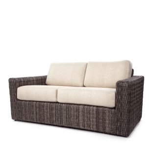 Orsay loveseat with Smoke weave and Chartres Malt cushions