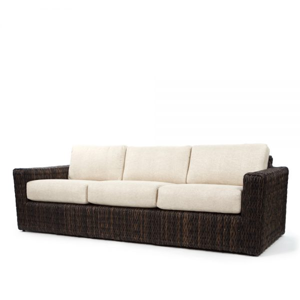 Orsay sofa with Espresso weave and Chartres Malt cushions