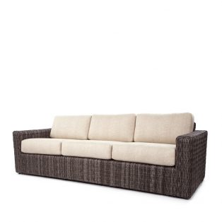 Orsay sofa with Smoke weave and Chartres Malt cushions