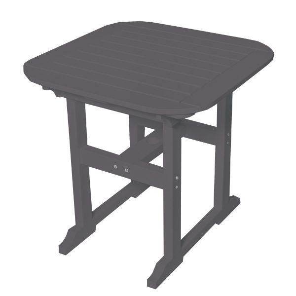 "Portsmouth 30"" square dining table with a Charcoal finish"