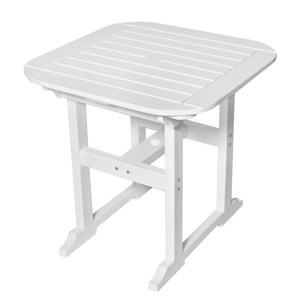 """Portsmouth 30"""" square dining table with a White finish"""