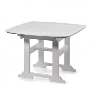 "Portsmouth 42"" square dining table with a White finish"