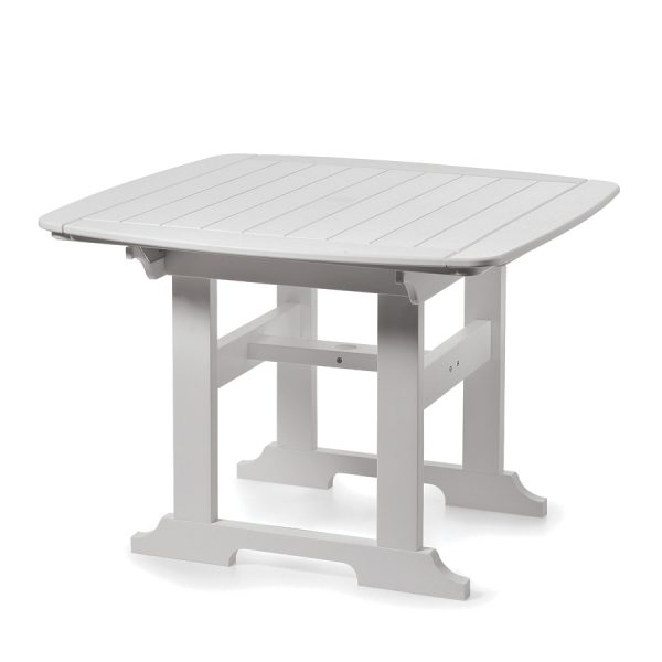 """Portsmouth 42"""" square dining table with a White finish"""