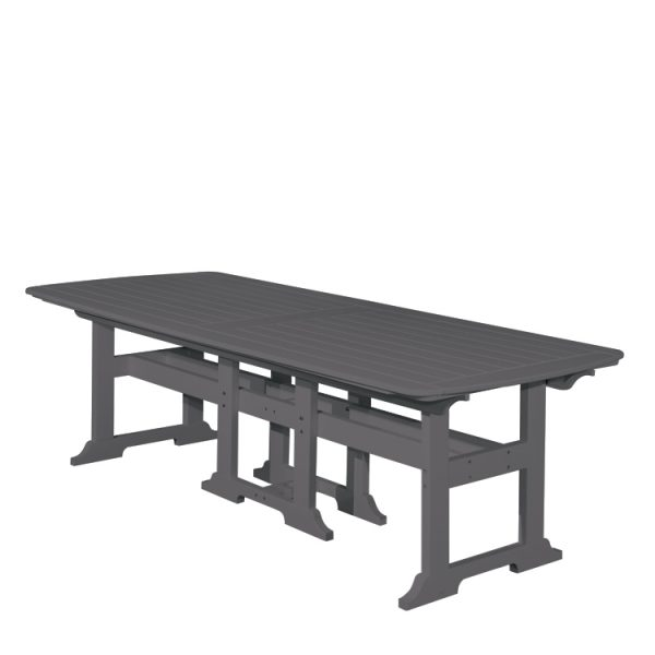 """Portsmouth 42"""" x 100"""" dining table with a Charcoal finish"""