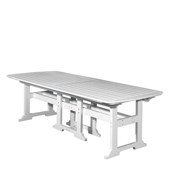 """Portsmouth 42"""" x 100"""" rectangle dining table with a White finish"""