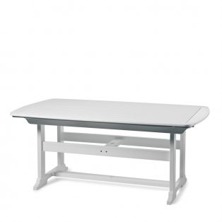 "Portsmouth 42"" x 72"" dining table with a White finish"