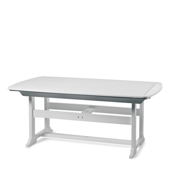"""Portsmouth 42"""" x 72"""" dining table with a White finish"""