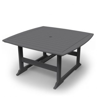 "Portsmouth 56"" square dining table with a Charcoal finish"