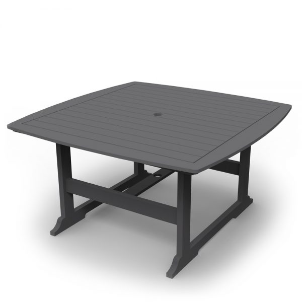 """Portsmouth 56"""" square dining table with a Charcoal finish"""