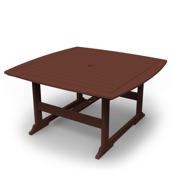 """Portsmouth 56"""" square dining table with a Chestnut finish"""