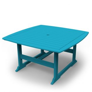"Portsmouth 56"" square dining table with a Pool finish"