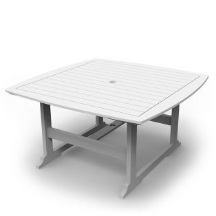 """Portsmouth 56"""" square dining table with a White finish"""
