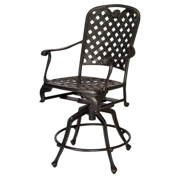 "Summer Classics Provance cast aluminum 24"" swivel barstool"