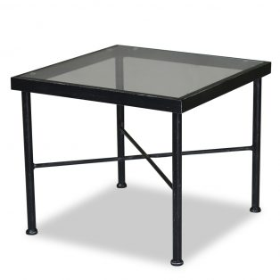 "Provence 21"" square glass top end table"