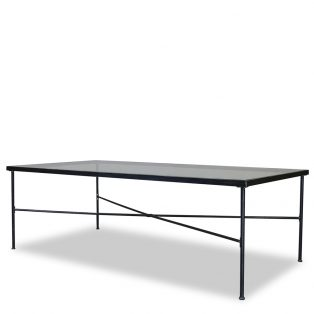 "Provence 84"" x 42"" glass top dining table"