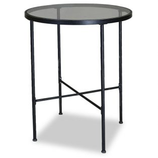 "Provence 32"" round glass top pub table"