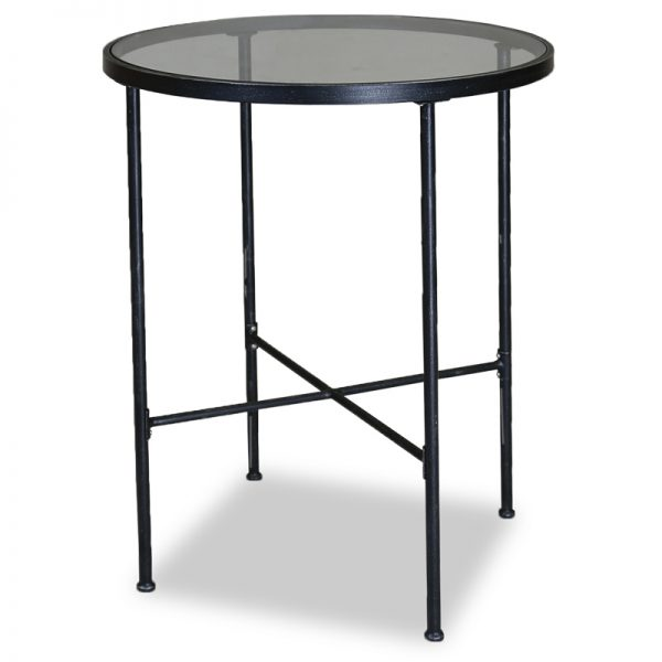 """Provence 32"""" round glass top pub table"""