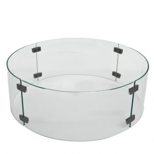 "OW Lee 23"" round fire pit glass guard"