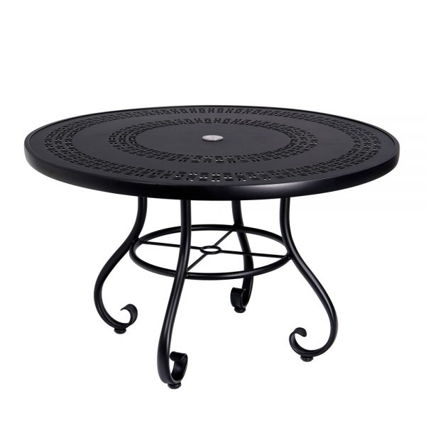 "Ramsgate 48"" round dining table with umbrella hole"