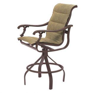 Tropitone Ravello padded sling swivel bar stool