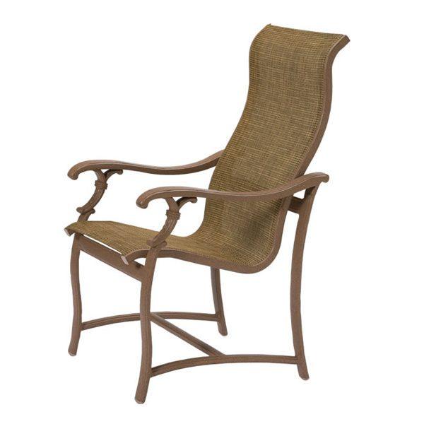 Tropitone Ravello sling high back dining chair