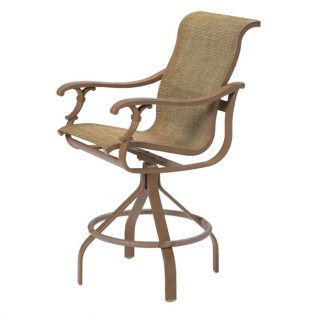 "Tropitone Ravello Sling 30"" swivel bar stool"