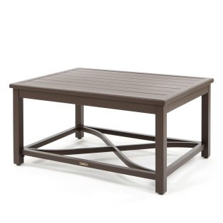 """Riva aluminum 32"""" x 44"""" rectangle coffee table"""