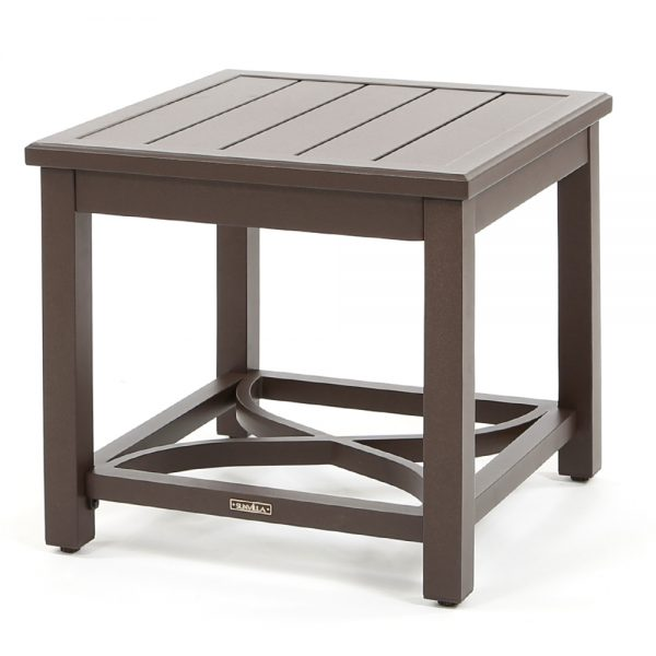 "Riva aluminum 24"" square side table"