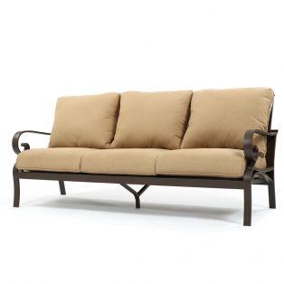 Riva aluminum sofa with Spectrum Sesame cushions