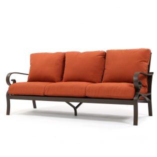 Riva outdoor sofa with Canvas Brick cushions