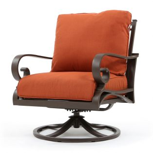 Riva outdoor swivel club chair with Canvas Brick cushions