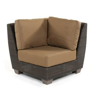 Saddleback wicker corner sectional unit