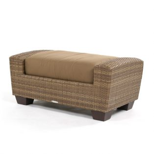 Saddleback Wicker Ottoman