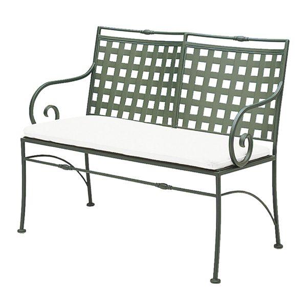 Sheffield bench with Sunbrella cushion