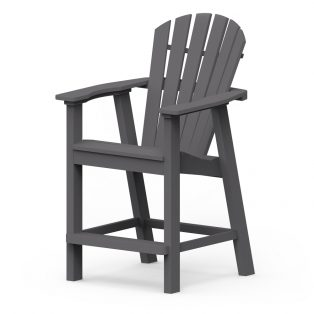 Shellback balcony chair with a Charcoal frame finish