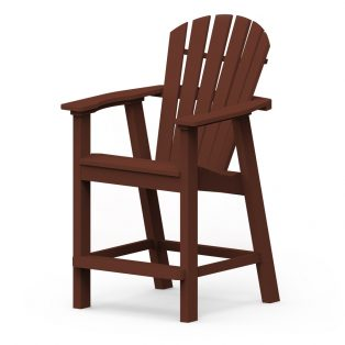 Shellback balcony chair with a Chestnut frame finish