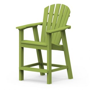 Shellback balcony chair with a Leaf finish