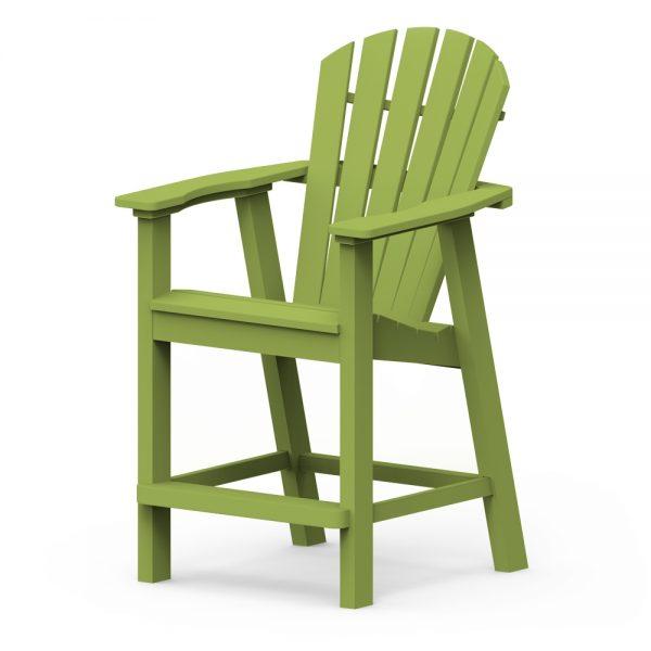 Shellback balcony chair with a Leaf finish