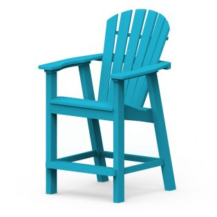 Adirondack shellback balcony chair with a Pool finish