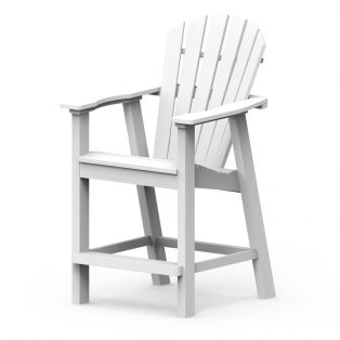 Shellback balcony chair with a White finish