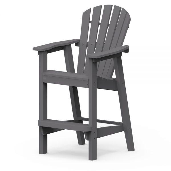 Adirondack shellback bar chair with a Charcoal finish