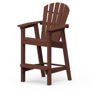 Adirondack Shellback bar chair with a Chestnut finish