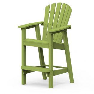 Adirondack shellback bar chair with a Leaf frame finish