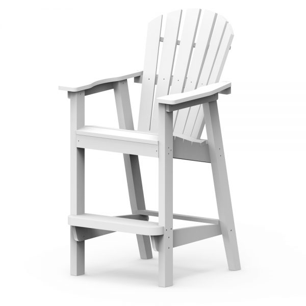 Adirondack shellback bar chair with a White frame finish