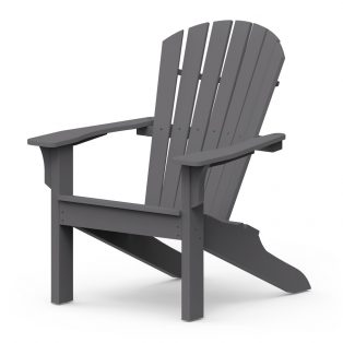 Shellback chair with a Charcoal finish