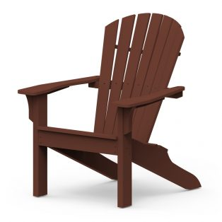 Adirondack Shellback chair with a Chestnut finish