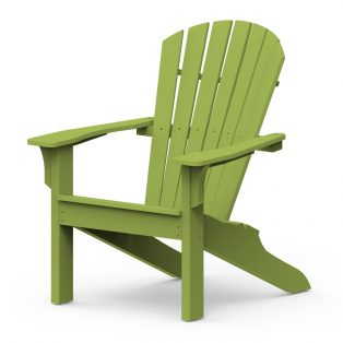 Adirondack Shellback chair with a Leaf finish