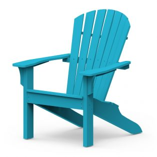 Adirondack Shellback chair with a Pool finish