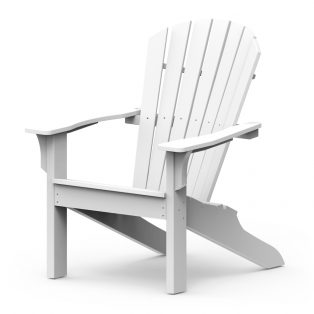 Adirondack Shellback chair with a White finish